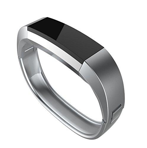 Für Fitbit Alta ,Culater Luxus Stainless Steel Armreif Uhrenarmband Trageschlaufe Band Armband Band (Silber, Für Fitbit Alta)