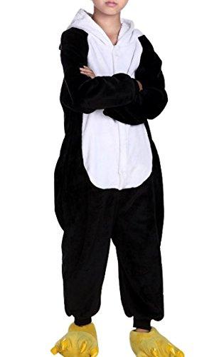 Happy Cherry Kind Schlafanzug Warmer Flanell Einteiler Pyjamas Unisex Cosplay Kostüme Tierkostüme Panda Dicke Nachtwäsche Kostüm Für Halloween Animal Sleepwear Geeignet Für 10 Bis 11 Jahre - (Kostüme Schuhe Halloween Elf)