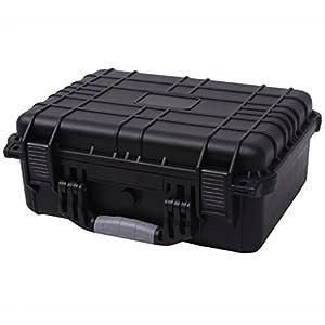 Festnight Valise à Outil Boîte de Protection pour Equipement 40,6 x 33 x 17,4cm Noir