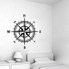 Idea Regalo - Dragon868 Bussola Muro Adesivo Vinile Decorazione Murales Camera Da Letto Cucina Arte Mappa Viaggio