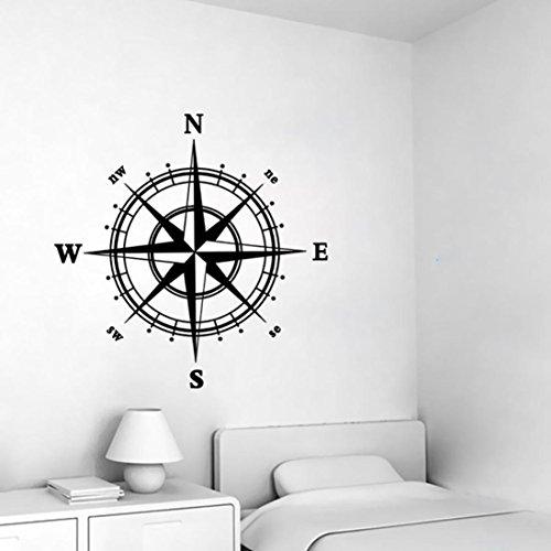 Dragon868 bussola muro adesivo vinile decorazione murales camera da letto cucina arte mappa viaggio