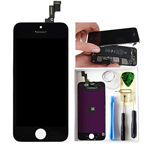 ne 5C LCD Display Reparaturset Ersatz Touchscreen Bildschirm Komplettset mit Werkzeuge(Schwarz) ()