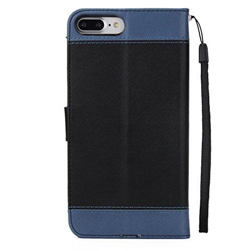 Leather Iphone 7 case,Geprägt Rosen hülle,Magnetisch PU-Leder Geldbörse Flip Wallet Cover in Book Style Stand Case GY-honeq für apple iphone 7?Rot Schwarz