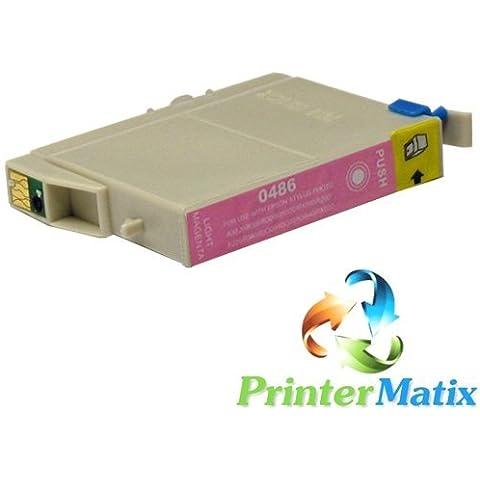 EPSON T0486 LIGHT MAGENTA Stylus Photo R200/R220/R300/R320 CARTUCCE COMPATIBILI Confezione