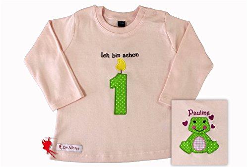 Personalisiertes Geburtstagsshirt *Lionel* Langarm 1.Geburtstag (Frosch Langarm-shirt)