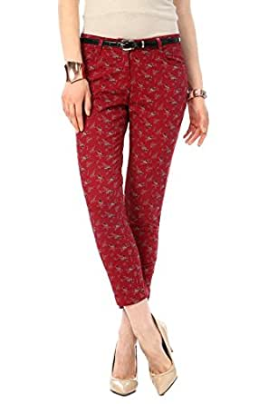 Honey by Pantaloons Women's Pants (301177729_Red_34)