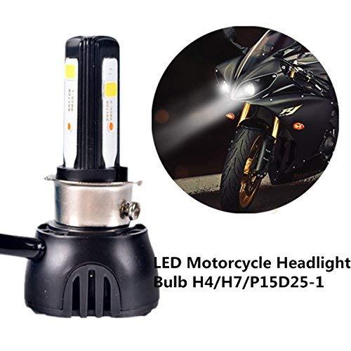 FEZZ Bombilla LED de Faro Motocicletas 40W H4 H6 S2 BA20D P15D25-1...