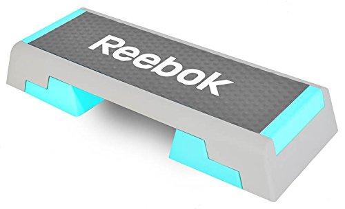 Reebok Step Trend Aerobic Stepper Steppbrett Fitness grau/türkis 7,5 kg + DVD