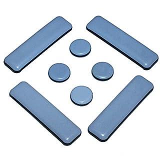 Möbelgleiter Set 8 Stück Teflon selbstklebend ø 19mm + ø 19x70mm PTFE Möbel-Schutz Teflongleiter
