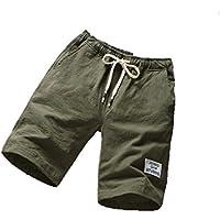Pantalones cortos de los hombres de la moda Pantalones cortos de algodón Gimnasio Pantalones deportivos para correr Pantalones rasgados ocasionales/Pantalones deportivos
