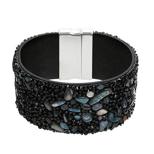 KiyomiQvQ Armband Mode Farben Klein Kieselsteine Armreif für Damen Einfach Casual Elegant Armreifen Frauen-Mädchen-Art Armbänder Boutique Lady Sommer Armband (Boutique Kleidung Kinder Rabatt)