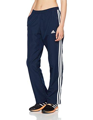 adidas Damen T16 Team Hose Navy Blau/Weiß M