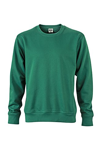 James & Nicholson Herren Workwear Sweat Sweatshirt Grün (Dark-Green)