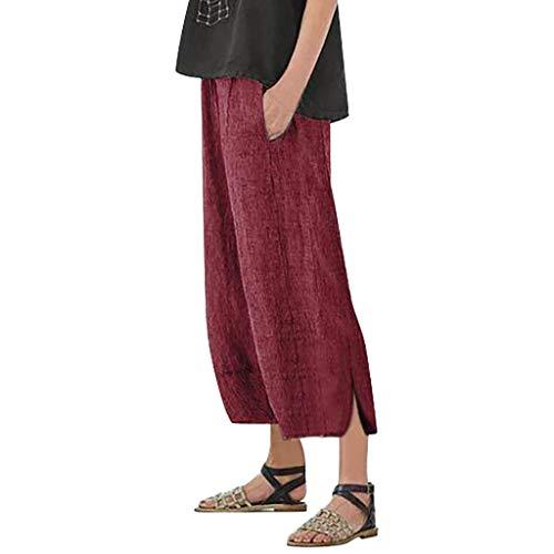 n Damen Leicht Elegant Homewear Hosen Damen 7 8 Hosen Damen Sommer Lässige Hosen in übergrößen Damen ()