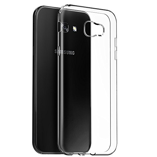Efonebits(TM) Crystal Clear Hot Transparent Premium Soft Silicone Back Case Cover For Samsung galaxy A7 2017  available at amazon for Rs.129