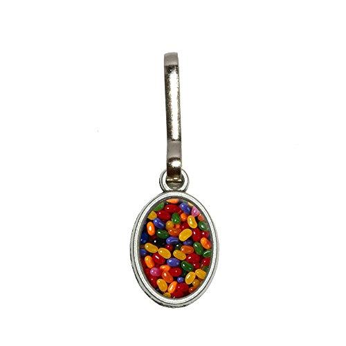 Jelly Beans Candy Antik Oval Charm Kleidung Geldbörse Gepäck Rucksack Zipper Pull (Jelly-geldbörse)