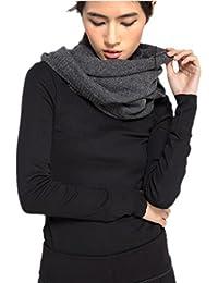 Prettystern - Loop Schal 100% Wolle einfarbig warm Strick Schlauchschal - Farbwahl