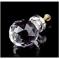 Revesun 4 piezas 20 mm forma de diamante cristal armariete pomo tirador/para armariete, cocina y baño gabinetes, persianas