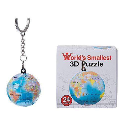 Unbekannt Funtime Geschenke BV5750 Welt S Kleinster 3D Earth Globus Puzzle Schlüsselanhänger (Designs Variieren), Blau