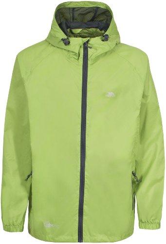Trespass Qikpac Jacket, Leaf, 3/4, Kompakt Zusammenrollbare Wasserdichte Jacke für Kinder / Unisex / Mädchen und Jungen, 3-4 Jahre, Grün