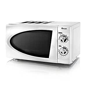 Swan SM3090N Manual Solo Microwave with 6 Power Levels, 800 Watt, 20 Litre, White
