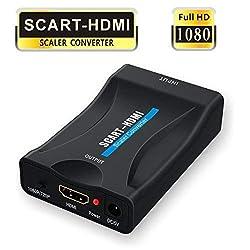 Scart auf HDMI,GANA Scart zu HDMI Konverter 1080P Scart to HDMI Adapter 60Hz HD mit USB Ladekabel für HDTV STB XBox PS3 Sky DVD Blu-ray