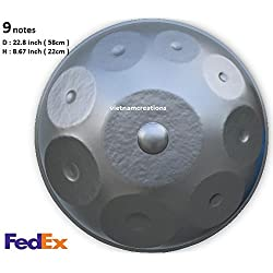 Nueva Handpan armónica en D Minor 9notas acero de tambor mano Pan + + Fedex (entrega en 7días hábiles)