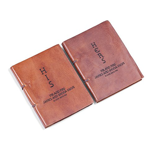 Bespoke His Hers Leather Journal Set