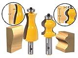 Yonico 182342bit Jewelry Box Side and Foot Mold router bit set con codolo 1/5,1cm