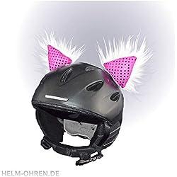 """Casco - orejas """"Deluxe"""" para el casco de esquí, snowboard Casco o casco - """"Fellohren Skihase/gato"""" Coole casco decorativo - / Plüschohren!"""