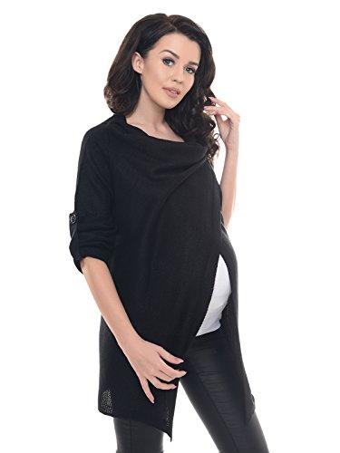 Purpless Maternity Modern Schwangerschaft Jacke Tragen 9005 Black2