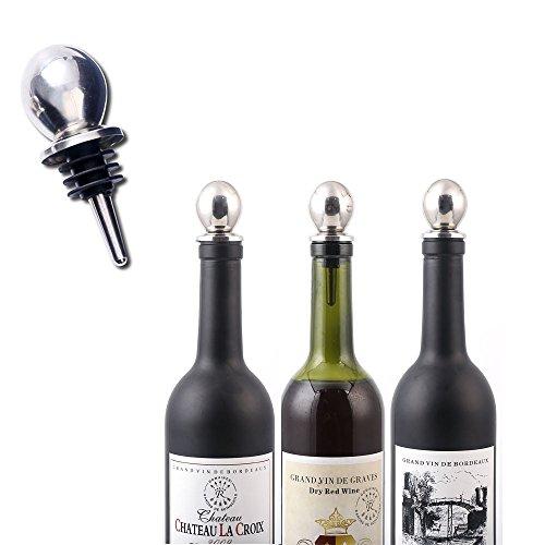 Corcho Acero Inoxidable Vertedor de ahorro de tapón para botella de vino Preserver boquilla dispensador de aceite de oliva de licor bebidas botellas de champán