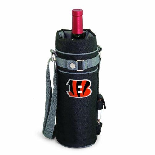 Picnic Time NFL Cincinnati Bengals isolierte Single Flasche Wein Sack mit Korkenzieher Blk-wein