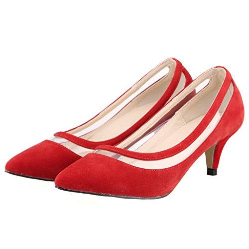 Eks - Talon Aiguille Rouge Pour Femme (rot-wildleder)