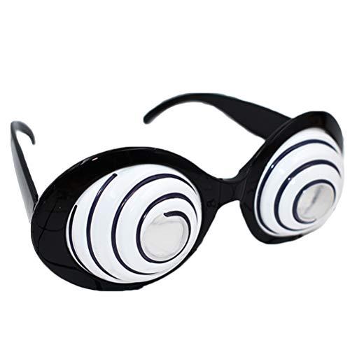 Amosfun Partybrille Kunststoff Schwindel Augen Design Lustig Neuheit Sonnenbrille Gläser Kostüm Gläser Fotorequisiten Party Gastgeschenk