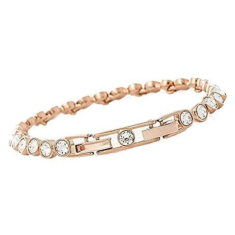 Swarovski 5039938 Plated Tennis Bracelet Metal White
