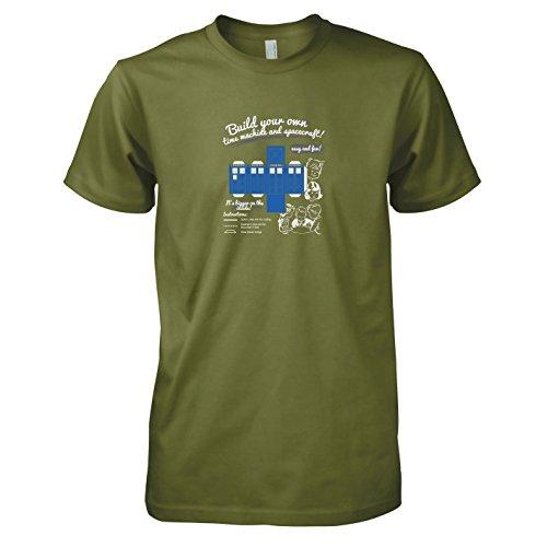 TEXLAB - Build your own Time Machine - Herren T-Shirt Oliv