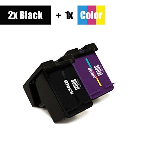Preisvergleich Produktbild 3er Set - Eurotone remanufactured Drucker Patrone 300 Black + 300 Color XXL - für HP DESKJET F2400 F2410 F2420 F2423 F2430 F2440 - XL Befüllung - ersetzt original HP 2x 300 BK / 1x 300 CL