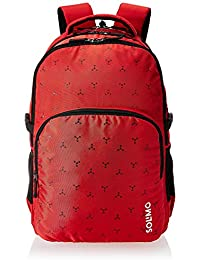 Amazon Brand - Solimo Vogue School Backpack (40 litres, Red)