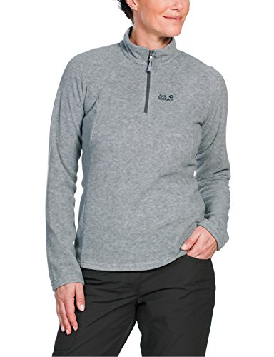 Jack Wolfskin Damen Fleece Pullover Oakridge, Light Grey, L, 1701302-6111004