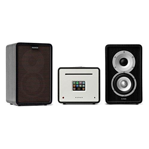 NUMAN Unison Retrospective 1979 S Edition mit Cover schwarzbraun • Stereoanlage • Verstärker • Lautsprecher • 2 x 40 W • UNDOK-App • Spotify-Connect • WLAN • DAB+ • Bluetooth • UKW • Display • schwarz