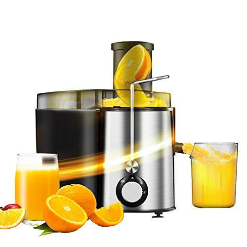 HYYBZ Licuadora para Verduras y Frutas, Extractor de Zumos 64MM Boca Ancha, 280W, 2 Velocidades, Acero Inoxidable, Fácil de Limpiar