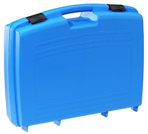 Kunststoffkoffer leer in blau, Außenmaß: 524x420x130 mm