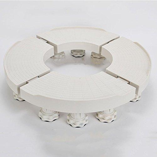 DEG Bewegliche justierbare Unterseite Runde ovale Klimaanlageninnenseite mit Retractable Stahlrohr multifunktionale Verstellbarer Basis