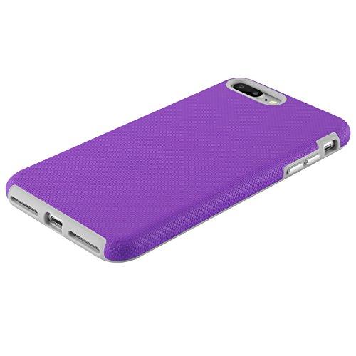 iPhone 8, iPhone 7 Hülle   JAMMYLIZARD Outdoor Schutzhülle [ LIGHTWAVE Series ] Backcover Handyhülle Case aus mattem Silikon und Polykarbonat, Neon Pink LILA