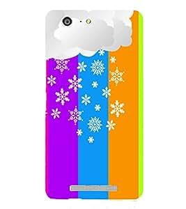 Fiobs Designer Back Case Cover for Gionee Marathon M5 (Multicolor Floral Pattern Design )