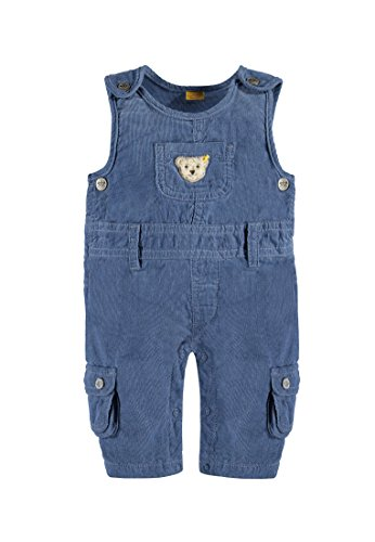 Steiff Collection Jungen Latzhose Latzhose Cord, Gr. 56, Blau (moonlight blue 3820)
