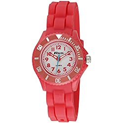 Ravel Children's Easy Read Quartz Watch with White Dial Analogue Display and Pink Silicone Strap R1802.10