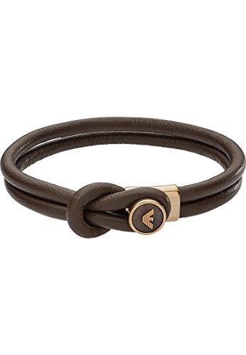 Emporio Armani Herren-Armband Edelstahl schwarz, One Size