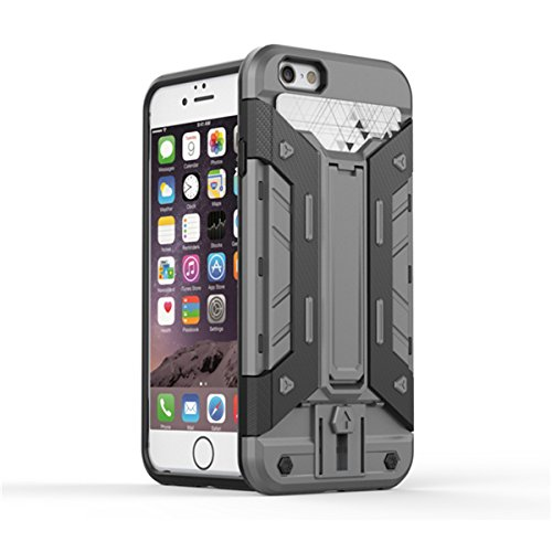 iPhone 5S Hülle, iPhone SE Hülle, Lifeturt [ Silber ] 2 Layer Hybrid Combo Innere Weiche Silikon Hart Plastik Anti-stoß Schutzhülle Tasche Case Cover für Apple iPhone SE/iPhone 5/5s E02-Grau